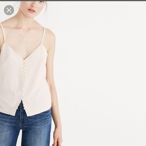 Madewell silk cami with buttons